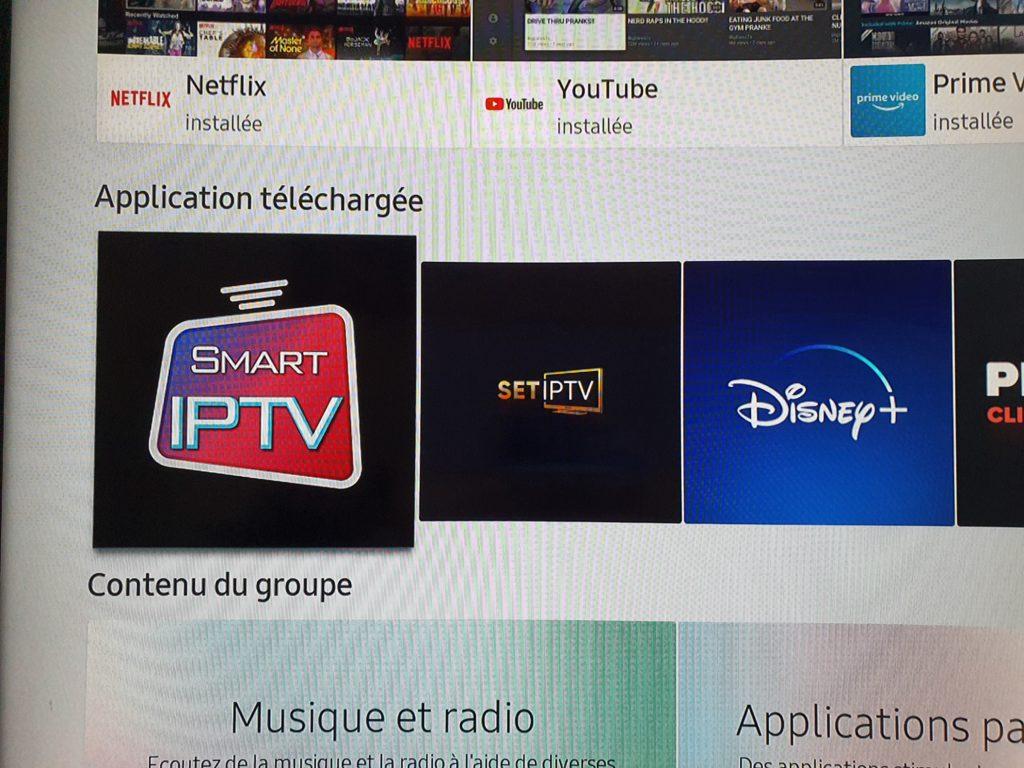Smart IPTV sur smart TV Samsung