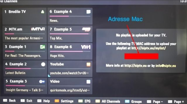 find mac smart iptv
