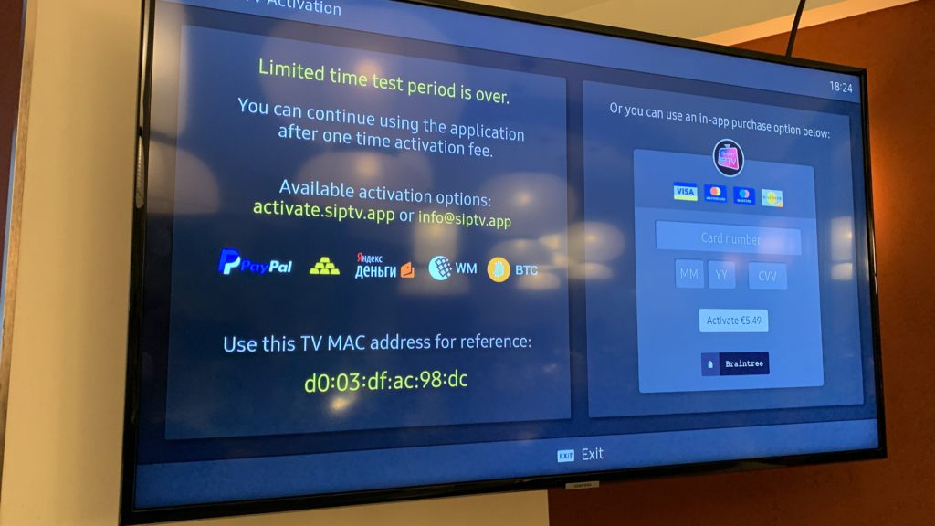 limited time test period is over smart iptv erreur