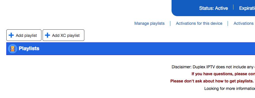 Add playlist Duplex Play