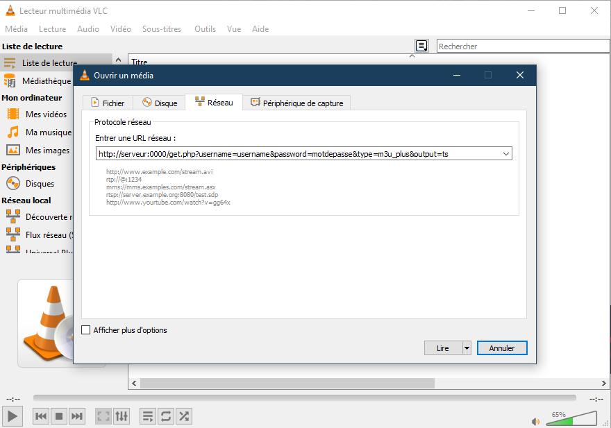 installer url vlc - iptc sur PC